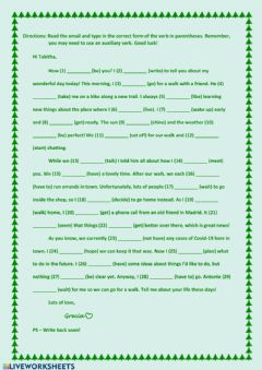 Interactive worksheet Present simple and continuous & Past simple and continuous