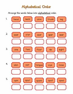 Interactive worksheet Alphabetical Order 1