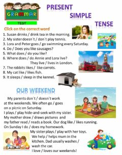 Interactive worksheet Present Simple Tense