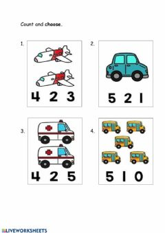 Interactive worksheet Counting 1-20