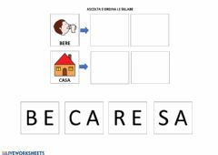 Interactive worksheet Parole bisillabe 1