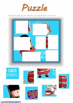Interactive worksheet London puzzle