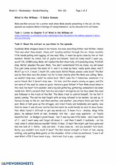 Interactive worksheet Chapter 5 -Wind in the Willows - Comprehension