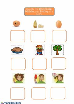 Interactive worksheet 3 steps sequece