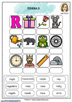 Interactive worksheet Fonema R