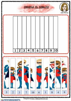 Interactive worksheet Puzzle superhéroes