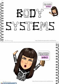 Interactive worksheet Body system