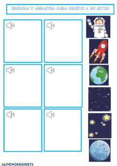 Interactive worksheet Space