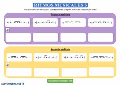 Interactive worksheet Ritmos musicales 5