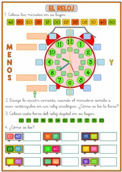Interactive worksheet Repaso final reloj