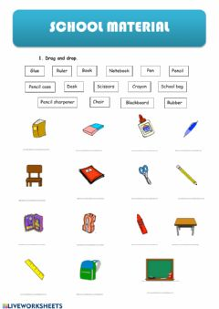 Interactive worksheet School material