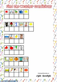 Interactive worksheet Weather Picture Puzzle