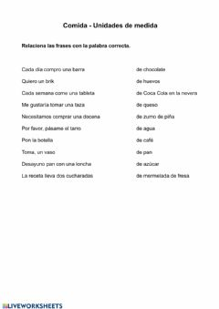 Interactive worksheet Unidades de medida