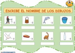 Interactive worksheet Palabras con d y b