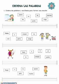 Interactive worksheet Forma oraciones