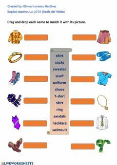 Interactive worksheet Clothes 02