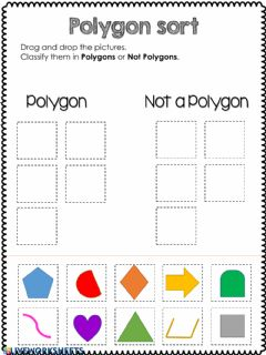 Interactive worksheet Polygon-Not a polygon