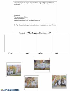 Interactive worksheet Henny Penny Sequencing