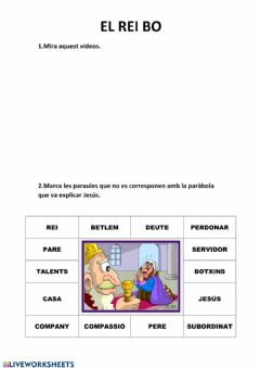 Interactive worksheet Religió 4t 4
