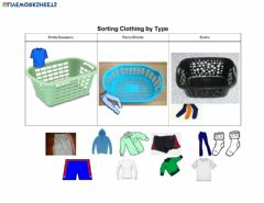 Ficha interactiva Sorting Laundry