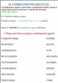 Interactive worksheet Complemento oggetto