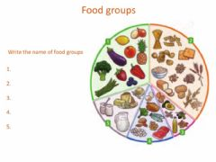 Ficha interactiva Unit 2 Food groups Complete