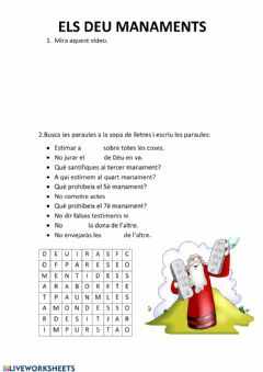 Interactive worksheet Religió 4t 6