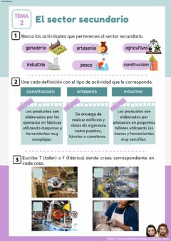 Interactive worksheet El sector secundario