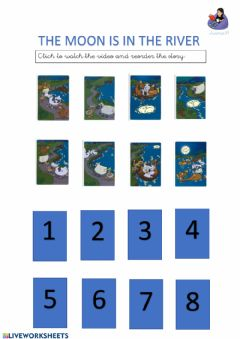Interactive worksheet The moon is in the river