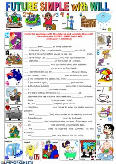 Interactive worksheet Future simple -Will-
