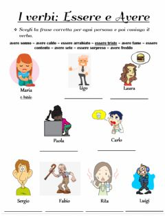 Interactive worksheet Essere o avere?