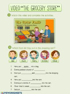Interactive worksheet Video. listening comprehension