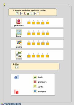 Interactive worksheet primavera II