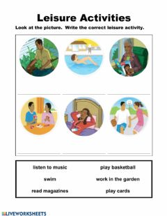 Interactive worksheet Leisure Activities 1