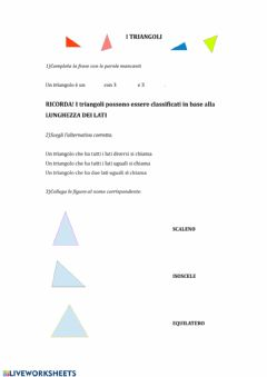 Interactive worksheet TANTI TRIANGOLI!!!!