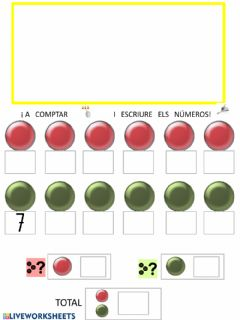 Interactive worksheet Numeració