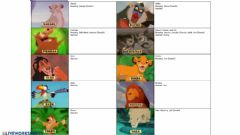 Interactive worksheet Describe Lion King Characters