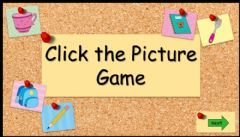 Interactive worksheet 3.2 Click the Picture Game