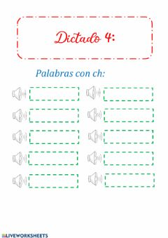 Interactive worksheet Dictado 4