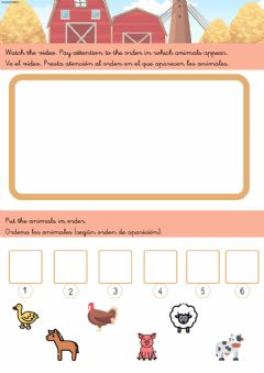 Interactive worksheet Farm animal sounds