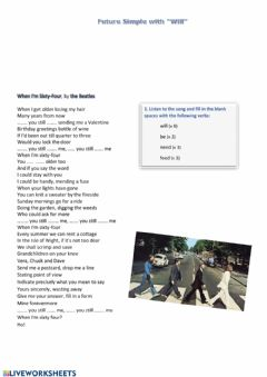 Interactive worksheet Song: When I'm sixty-four, the Beatles