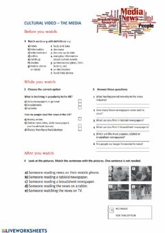 Interactive worksheet The media