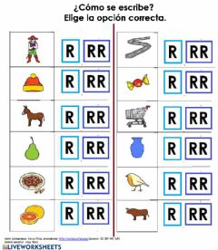 Interactive worksheet Elige R-RR