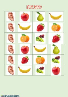 Interactive worksheet Fruit vocabulary