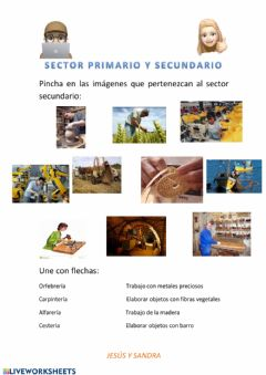 Interactive worksheet Sector secundario y primario