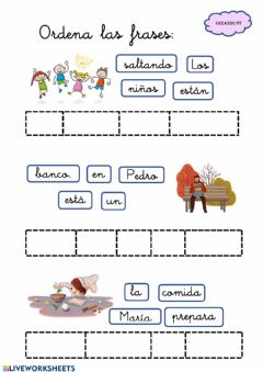 Interactive worksheet Ordenar las frases