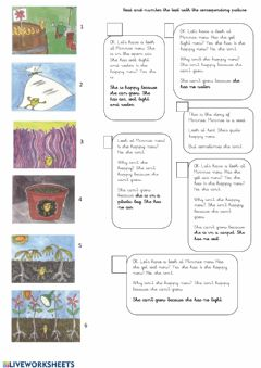 Interactive worksheet Reading comprehension Minnie the seed