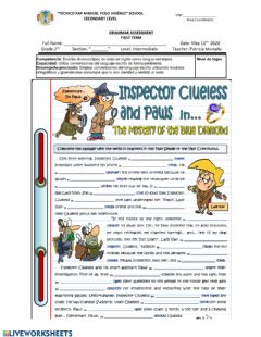 Interactive worksheet Simple past and past progressive