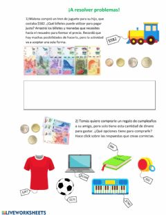 Interactive worksheet ¡A resolver problemas!
