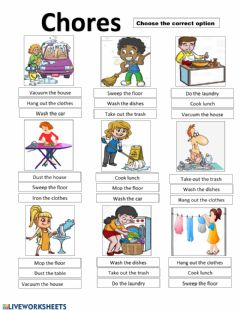 Interactive worksheet Chores